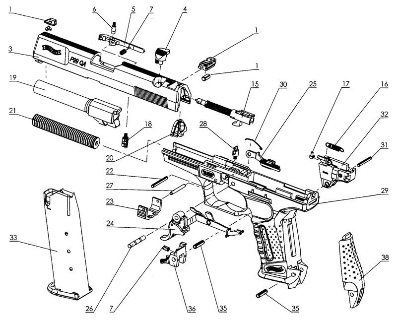 Walther 22 Pistol Diagram Electrical Work Wiring Diagram
